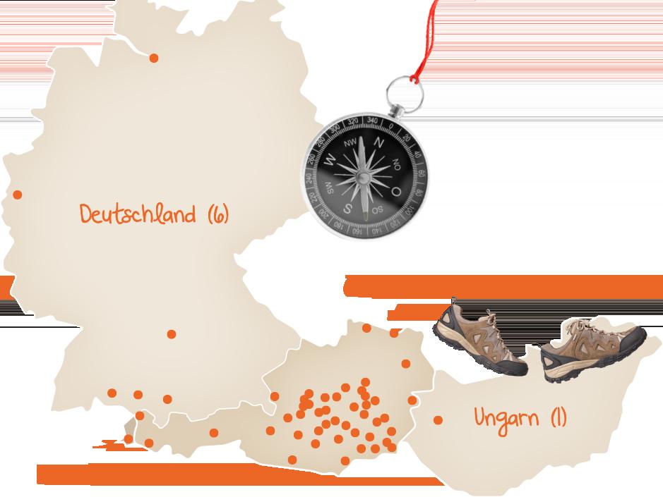 JUFA Standortkarte
