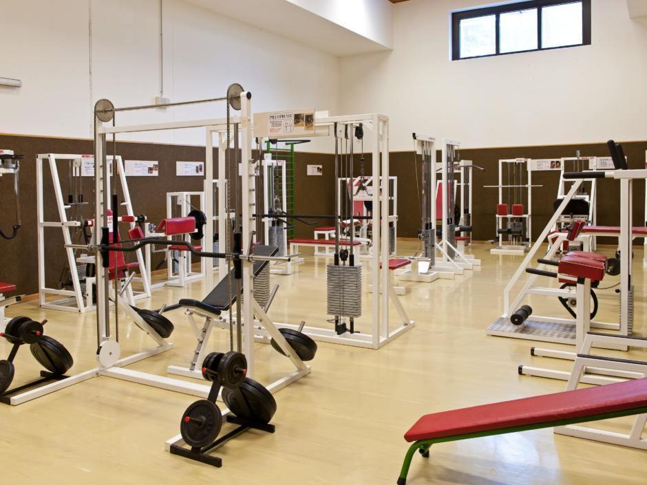 Fitnessraum im JUFA Hotel Hochkar - Sport-Resort. Der Ort für erfolgreiches Training in ungezwungener Atmosphäre für Vereine und Teams.