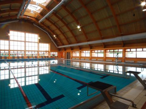 Hallenbad mit Sportbecken im JUFA Vulkan Thermen-Resort. Der Ort für erholsamen Thermen- und entspannten Wellnessurlaub für die ganze Familie.