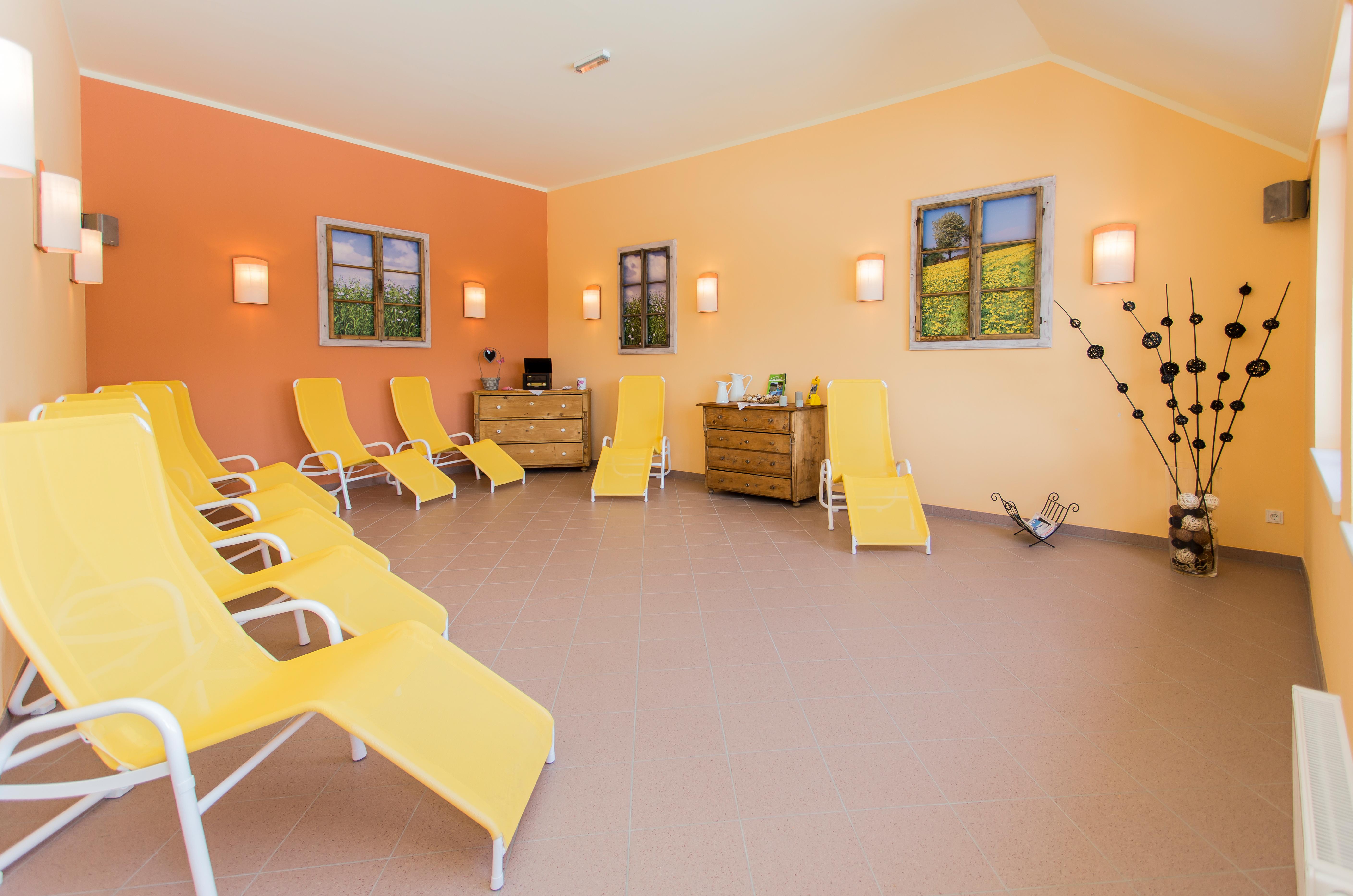Ruheraum im Wellnessbereich im JUFA Hotel Gitschtal - Landerlebnis. Der Ort für kinderfreundlichen und erlebnisreichen Urlaub für die ganze Familie.