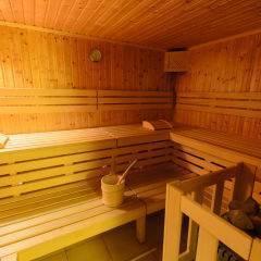 Sauna mit Aufgussschale im Wellnessbereich im JUFA Hotel Schloss Röthelstein. Der Ort für märchenhafte Hochzeiten und erfolgreiche und kreative Seminare.