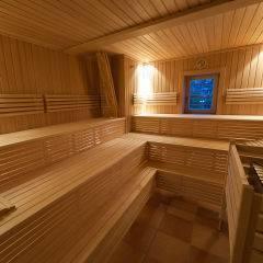 Sauna im Wellnessbereich im JUFA Weinviertel - Hotel in der Eselsmühle. Der Ort für erfolgreiche und kreative Seminare in abwechslungsreichen Regionen.