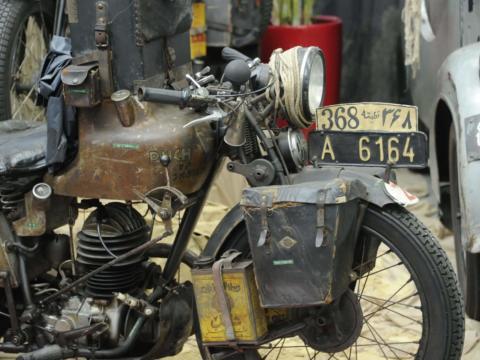 sie sehen ein altes Motorrad der Marke Puch im Puchmuseum in Judenburg, JUFA Hotels bietet erlebnisreichen Städtetrip für die ganze Familie und den idealen Platz für Ihr Seminar.