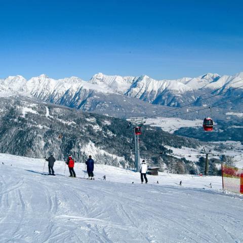 Skigebiet Oberlungau mit Skipiste in Grosseck-Speiereck