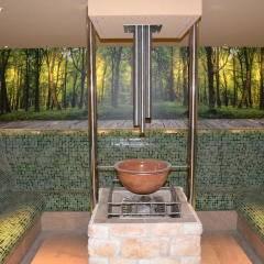 Das Dampfbad  im Wellnessbereich im JUFA Natur-Hotel Bruck. Der Ort für erlebnisreichen Natururlaub für die ganze Familie.