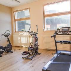 Fitnessraum mit Geräten im JUFA Hotel Malbun Alpin-Resort. Der Ort für erholsamen Familienurlaub und einen unvergesslichen Winter- und Wanderurlaub.