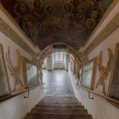 Kunstvolles Stiegenhaus im JUFA Judenburg Hotel zum Sternenturm. Der Ort für erfolgreiche und kreative Seminare in abwechslungsreichen Regionen.