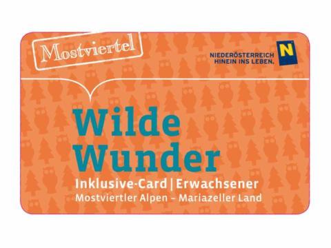 Sujetbild der Wilde Wunder Card. Erleben Sie tolle Ausflugsziele mit der Wilde Wunder Card und JUFA Hotels. Der Ort für erholsamen Familienurlaub und einen unvergesslichen Wanderurlaub.