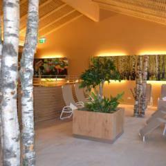 Der Ruheraum des Wellnessbereichs im JUFA Natur-Hotel Bruck. Der Ort für erlebnisreichen Natururlaub für die ganze Familie.