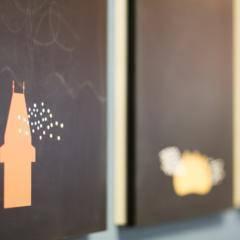 Wandbilder mit Illustrationen im JUFA Hotel Graz City. Der Ort für erlebnisreichen Städtetrip für die ganze Familie und der ideale Platz für Ihr Seminar.