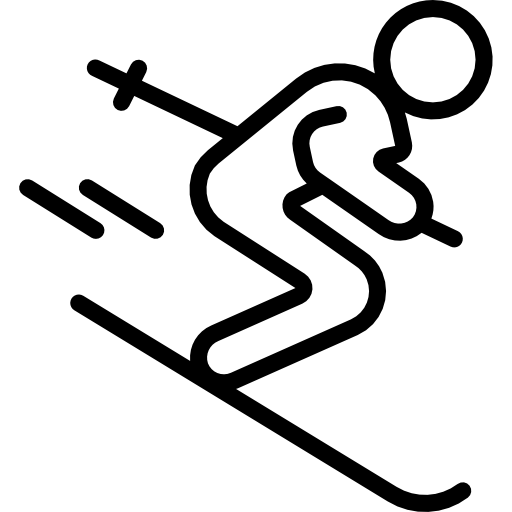 Icon Skifahrer