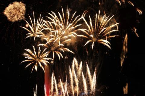 Sensationelles Feuerwerk