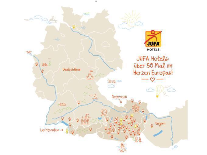 Über 50 JUFA Hotels-Standorte im Herzen Europas. JUFA Hotels bieten erholsamen Familienurlaub und einen unvergesslichen Winter- und Wanderurlaub.