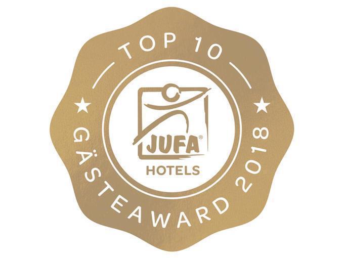 Sie sehen das Sujetbild des Gästaward 2018 von TrustYou. Die bestbewerteten JUFA Hotels wurden von TrustYou mit dem Gästeaward 2018 ausgezeichnet.