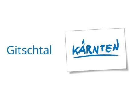 Sie sehen das Logo Gitschtal Kärnten der Kärnten Werbung, das ausgezeichnete Hotels tragen dürfen. JUFA Hotels sind zertifizierter Partner von Kärnten Werbung.