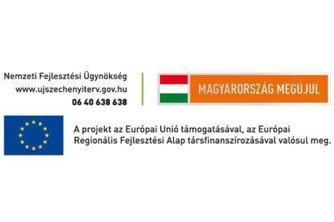 Sie sehen das Logo der Europäischen Union und Ungarn