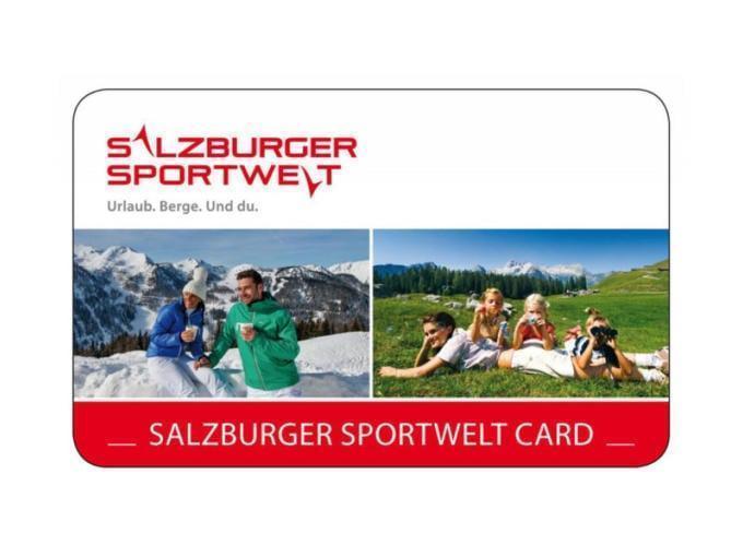 Sie sehen das Sujetbild der Salzburger Sportwelt Card. Erleben Sie tolle Ausflugsziele mit der Salzburger Sportwelt Card und JUFA Hotels. Der Ort für erholsamen Familienurlaub und einen unvergesslichen Winter- und Wanderurlaub.