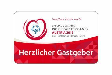 Sie sehen das Partnerlogo der Special Olympics 2017 in Österreich. JUFA Hotels ist offizieller Hotelpartner.