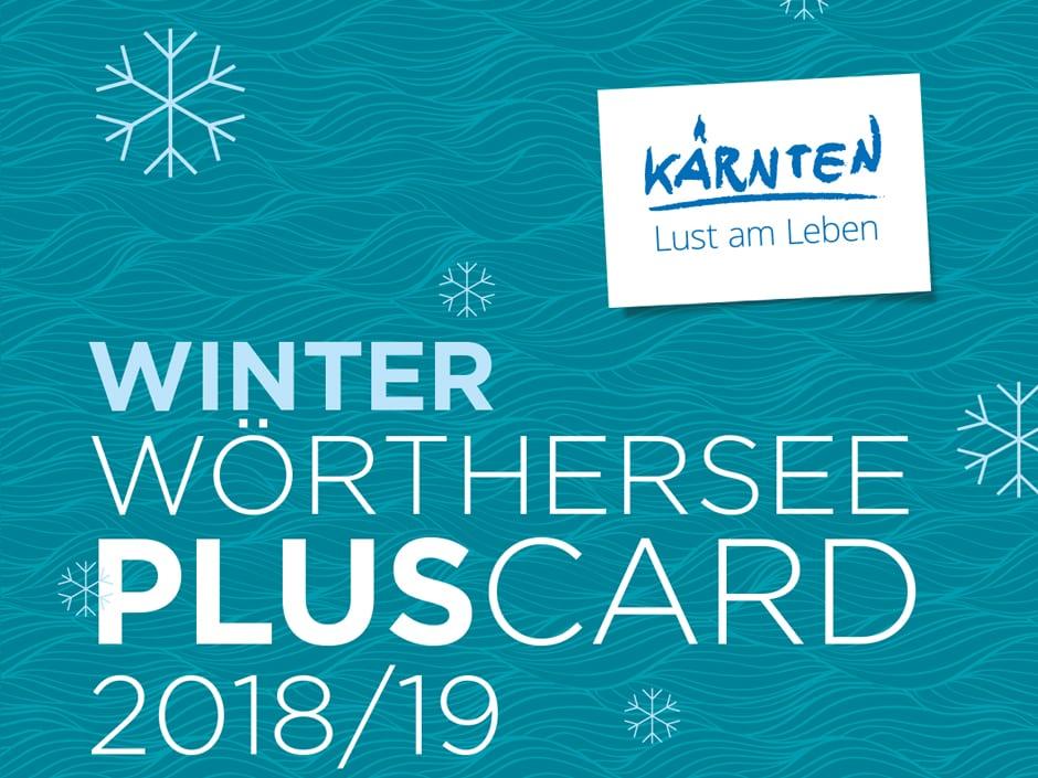 Sie sehen das Sujetbild der Winter Wörthersee Plus Card. Erleben Sie tolle Ausflugsziele mit der Winter Wörthersee Plus Card und JUFA Hotels. Der Ort für erholsamen Familienurlaub und einen unvergesslichen Winter- und Wanderurlaub.