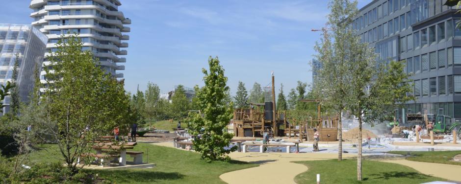Der Lohsepark ist in unmittelbarer Nähe des JUFA Hotel Hamburg HafenCity und bietet ein grünes Paradies im urbanen Jungle.