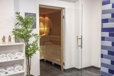 Sie sehen die Sauna im JUFA Hotel Mariazell – Erlaufsee Sport-Resort. Der Ort für erfolgreiches Training in ungezwungener Atmosphäre für Vereine und Teams.