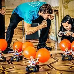Sie sehen: Mario-Kart-Battle ein Teambuilding Programm von teamazing