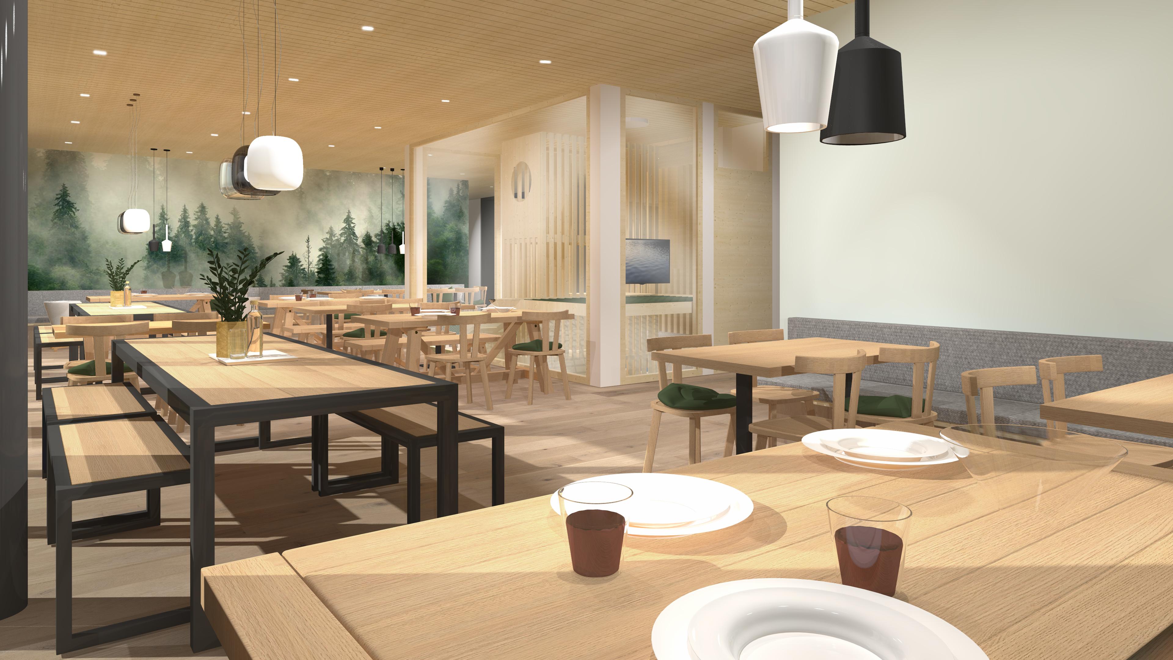 JUFA Savognin Restaurant mit Spielbereich