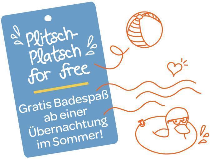 Sie sehen eine Illustration zum Thema Plitsch-Platsch for free. Gratis Badespaß ab einer Übernachtung im Sommer! JUFA Hotels bietet erholsamen Familienurlaub und einen unvergesslichen Winterurlaub.